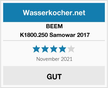 BEEM  K1800.250 Samowar 2017 Test