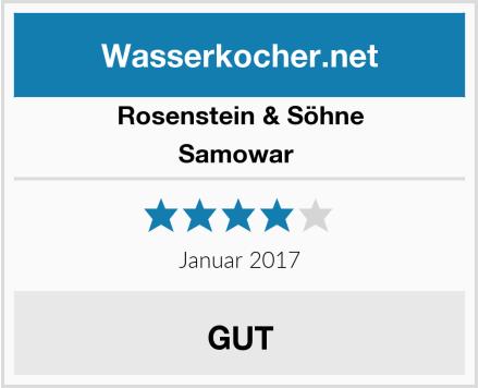 Rosenstein & Söhne Samowar  Test