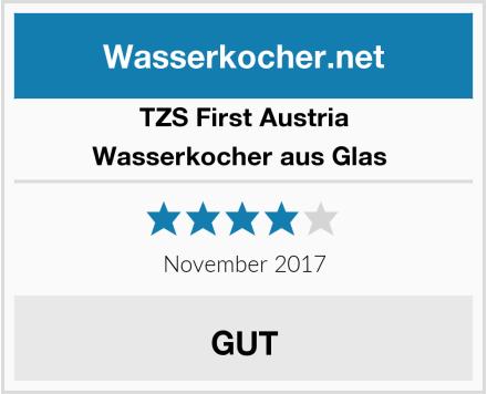 TZS First Austria Wasserkocher aus Glas  Test