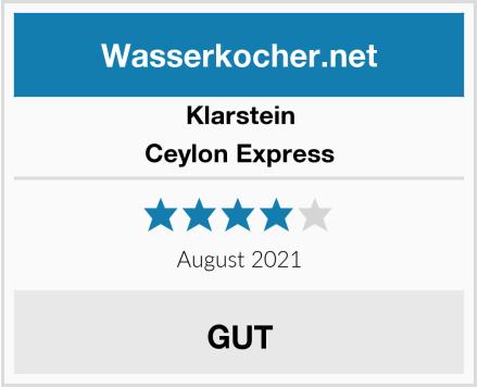 Klarstein Ceylon Express Test