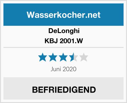 DeLonghi KBJ 2001.W Test