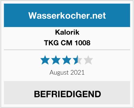 Kalorik TKG CM 1008 Test