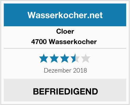 Cloer 4700 Wasserkocher  Test