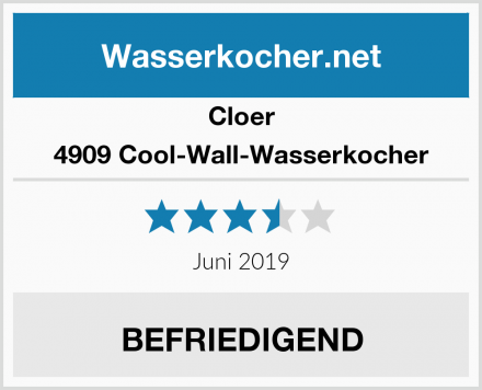 Cloer 4909 Cool-Wall-Wasserkocher Test