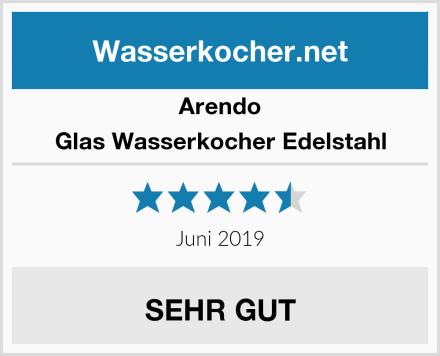 Arendo Glas Wasserkocher Edelstahl Test