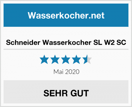 Schneider Wasserkocher SL W2 SC Test