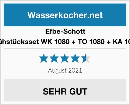 Efbe-Schott Frühstücksset WK 1080 + TO 1080 + KA 1080 Test