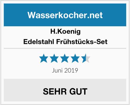 H.Koenig Edelstahl Frühstücks-Set Test