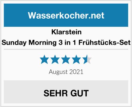 Klarstein Sunday Morning 3 in 1 Frühstücks-Set Test