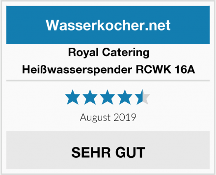 Royal Catering Heißwasserspender RCWK 16A Test