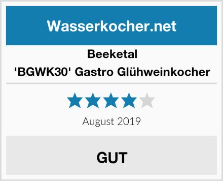 Beeketal 'BGWK30' Gastro Glühweinkocher Test