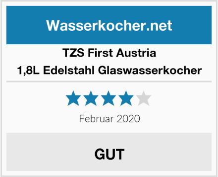 TZS First Austria 1,8L Edelstahl Glaswasserkocher Test