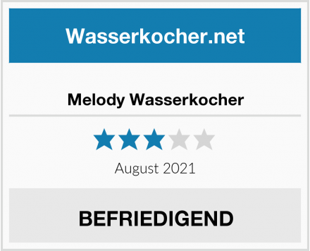 Melody Wasserkocher Test