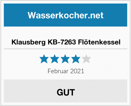 Klausberg KB-7263 Flötenkessel Test