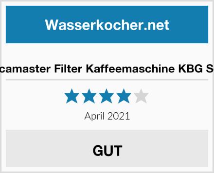 Moccamaster Filter Kaffeemaschine KBG Select Test