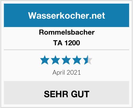 Rommelsbacher TA 1200 Test