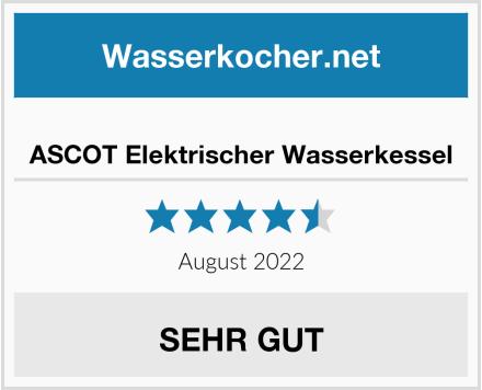 ASCOT Elektrischer Wasserkessel Test