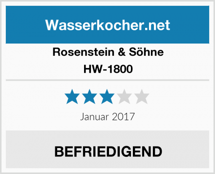 Rosenstein & Söhne HW-1800 Test
