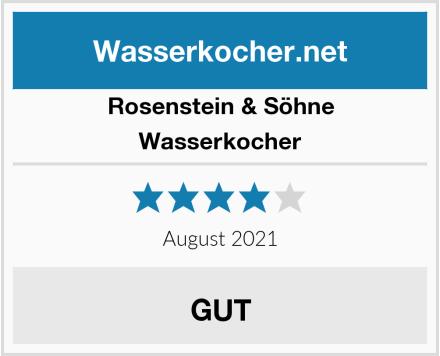Rosenstein & Söhne Wasserkocher Test