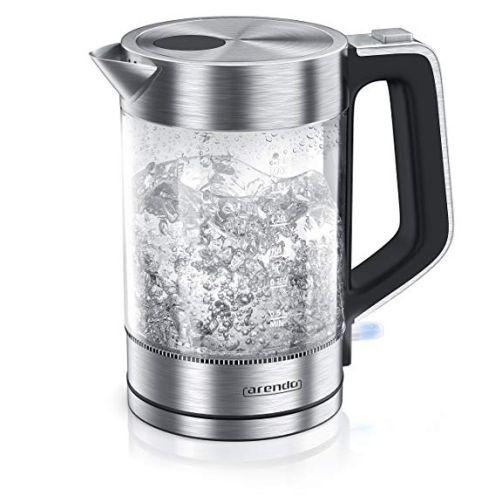 Arendo Glas Wasserkocher Edelstahl