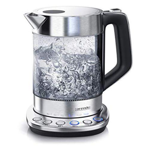 Arendo Glas Wasserkocher mit Temperatureinstellung