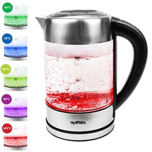 Grafner Glas Edelstahl Wasserkocher